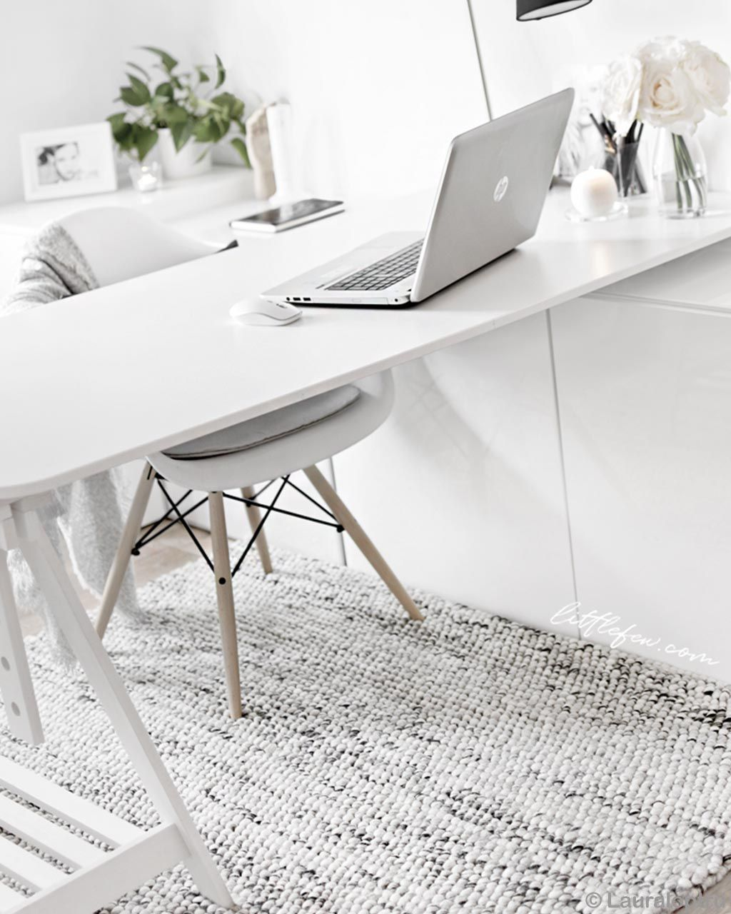 white table and laptop eastern designer room rugs