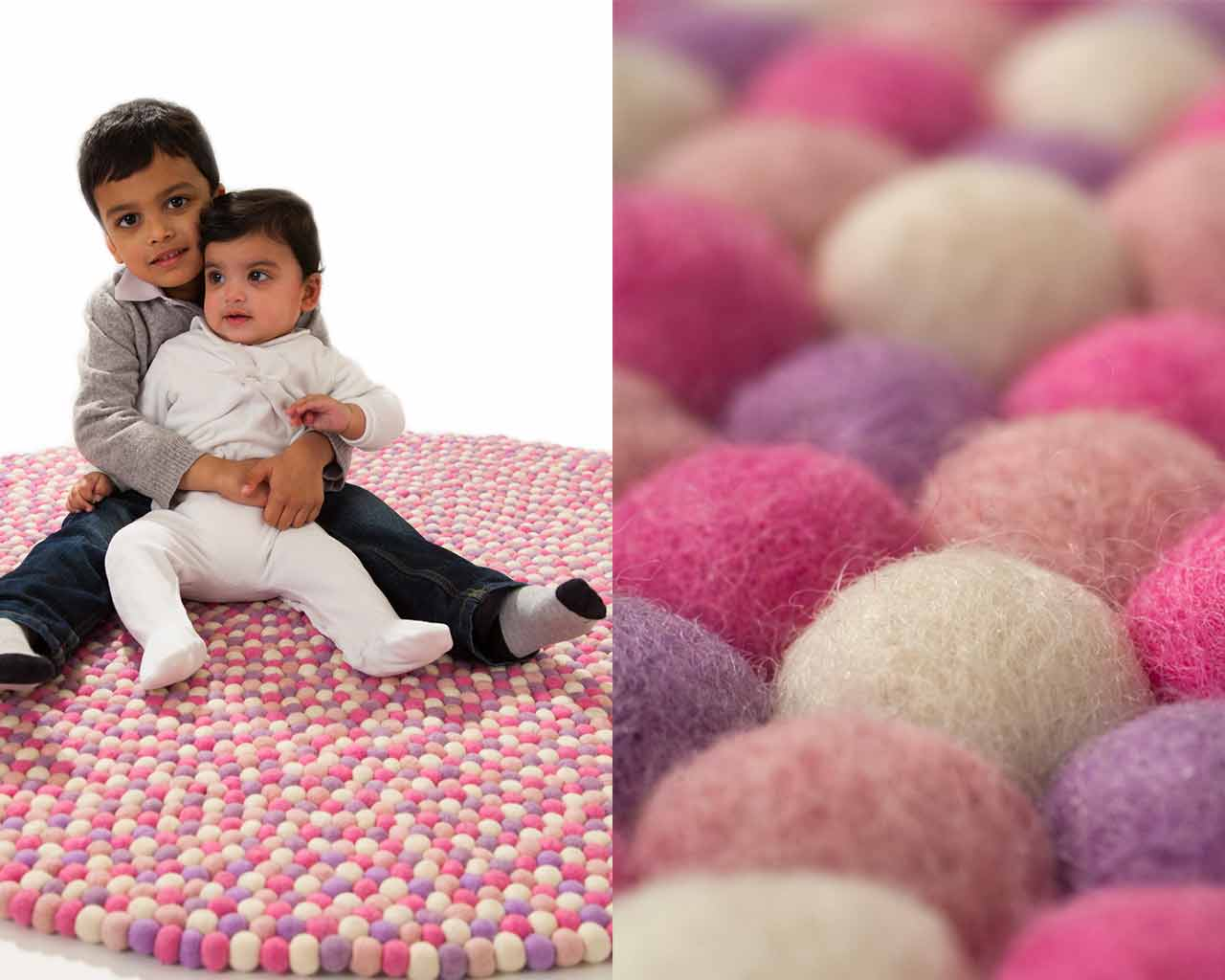 brother sister play room children carpet made from wool