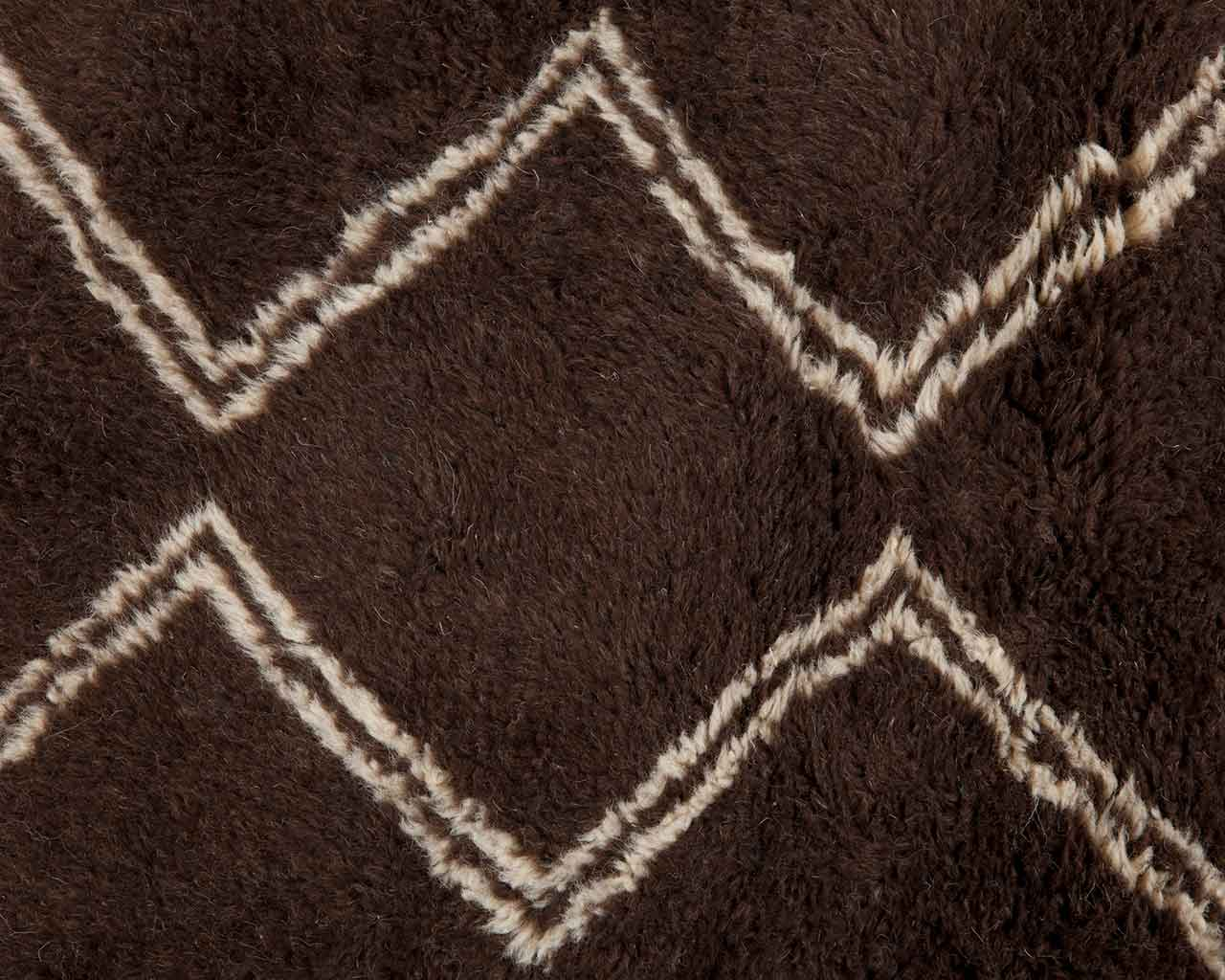 white rails parallel pattern brown handknotted rugs 1